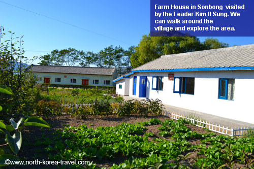 Farm house in Rason, DPRK. We will be able to walk around this North Korean village located in the remote northeastern part of the Korean Peninsula near Russia and China