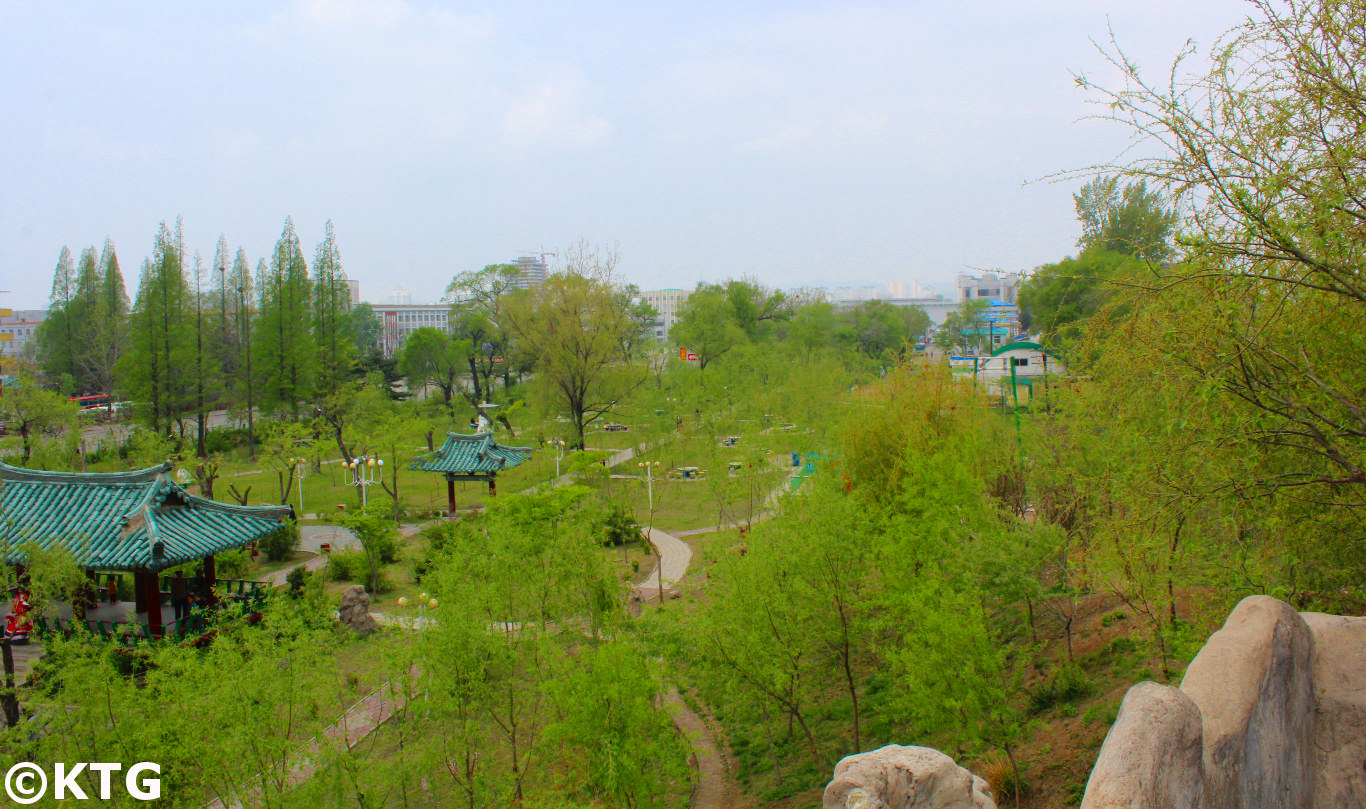 Folk Park in Sinuiju in North Korea, DPRK, with KTG Tours