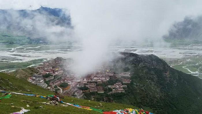 Ganden monastery in Tibet, China