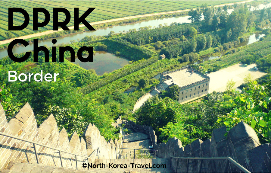 View of the Great Wall and DPRK in Dandong, China