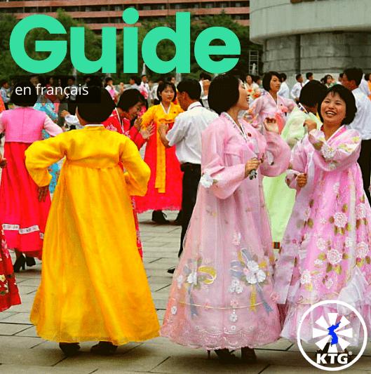 Guide de voyage de la Corée du Nord. Danses en masse à Pyonygang, foto prise par KTG