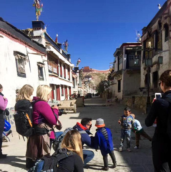37 metre high Gyanste Kumbum in Tibet, China