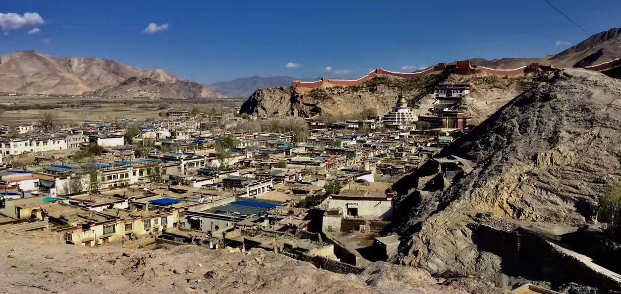 Gyantse in Tibet, China