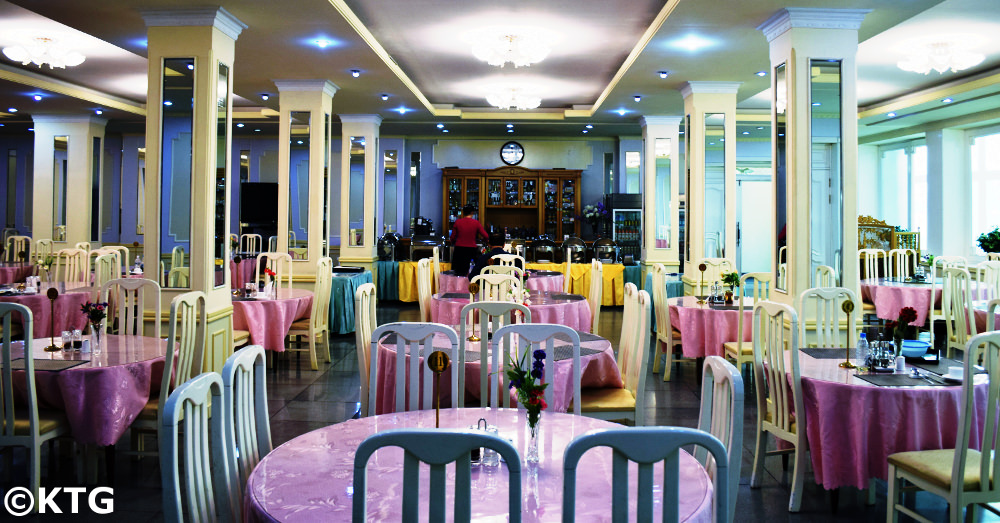 Haebangsan Hotel Restaurant. This is a budget hotel in Pyongyang, North Korea, classified as a second class hotel
