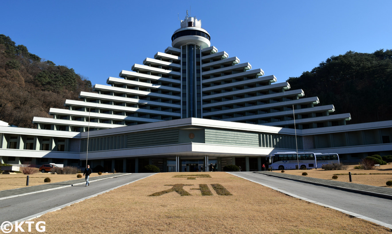 Exterior of the Hyangsan hotel after renovation, picture taken by KTG