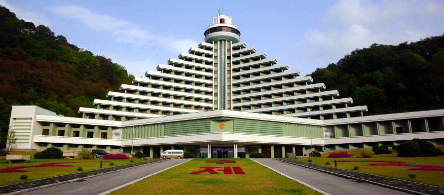 Hyangsan Hotel in Mount Myohyang one of the most luxurious hotels in North Korea
