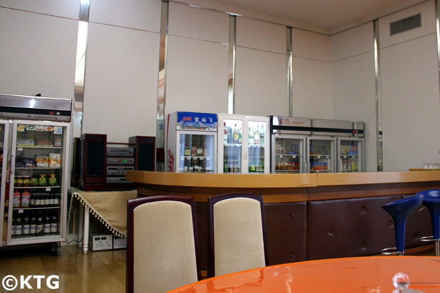 Bar at the Nampo Ryonggang Hot Spa Hotel in the DPRK, North Korea. Discover the DPRK with KTG Tours