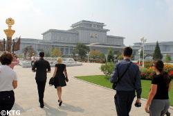 KTG travellers at the Kumsusan Memorial Palace in Pyongyang, North Korea (DPRK)