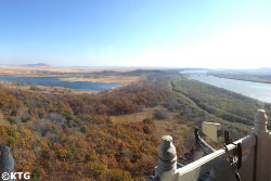 Meeting of 3 Borders; DPRK (North Korea), Russia and China. Picture taken in Fangchuan, China.