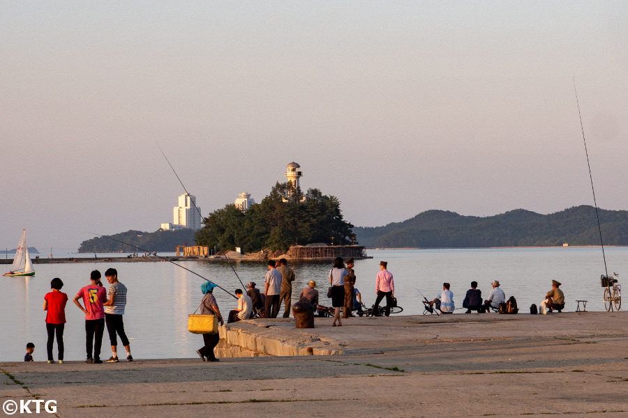 Jangdok Islet in Wonsan city on the east coast of North Korea (DPRK). Trip arranged by KTG Tours