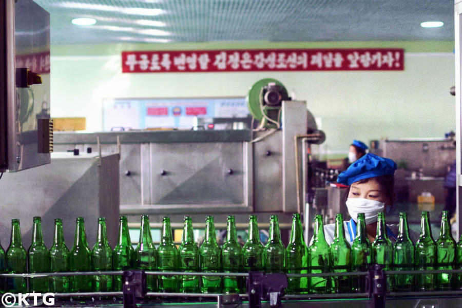 Kangso mineral water bottling factory in North Korea. Kangso is located near Nampo city which is on the west coast of the DPRK