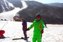 North Korean guide at the Masikryong ski resort with KTG Tours