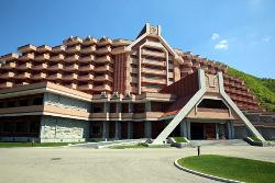 Masikryong Hotel at the Masik Ski resort in North Korea, DPRK, trip arranged by KTG Tours