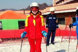 Equipment at the Masik Ski Resort in North Korea, DPRK. Tour arranged by KTG Tours
