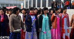 Mothers' Day in North Korea is celebrated on 16 November. Picture taken of Korean mothers in Nampo city on the west coast of DPRK by KTG Tours