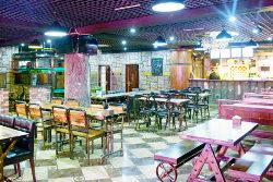 Czech beer bar in Rajin city in North Korea (DPRK). Visit Rason with KTG Tours