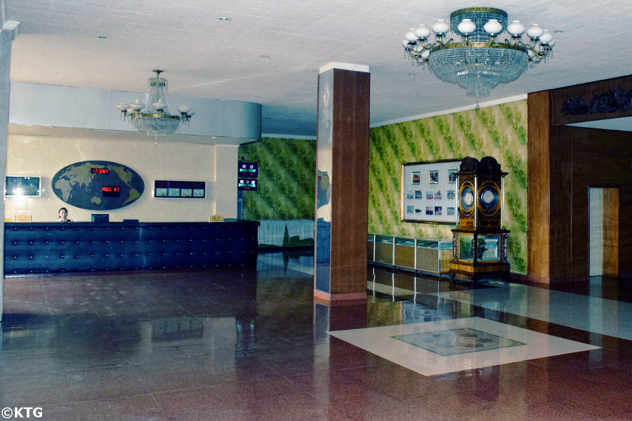 Lobby of the Sinsunhang Hotel in North Korea, DPRK. Visit Haeju city in South Hamgyong province with KTG Tours