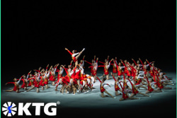 Acrobatic dances at the Mass Games in Pyongyang, capital of North Korea, DPRK. Trip arranged by KTG Tours