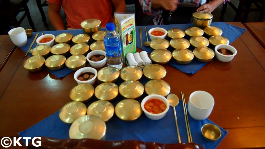 Traditional Korean lunch Bansanggi in Kaesong. KTG offers study tours in North Korea