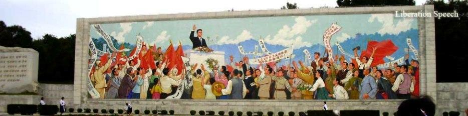 kim il sung liberation speech, north korea travel