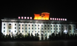 Kim Il Sung Square at night