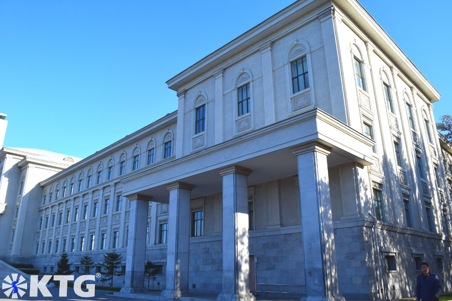 Building at Kim Il Sung University in Pyongyang capital of North Korea. Picture taken by KTG Tours