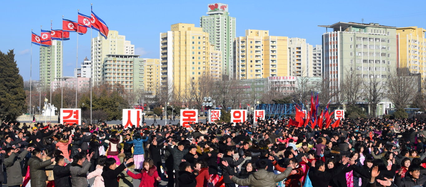 Mass Dances for Chairman Kim Jong Il's Birthday, Pyongyang, North Korea, with KTG tours