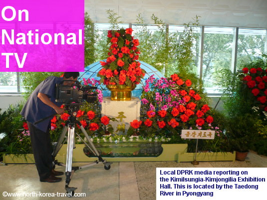 Kimilsungia Kimjongilia flower exhibition centre in Pyongyang