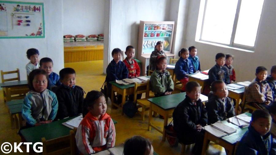 Kindergarten in einem kooperativen Farm in der Nähe Hamhung Nordkorea