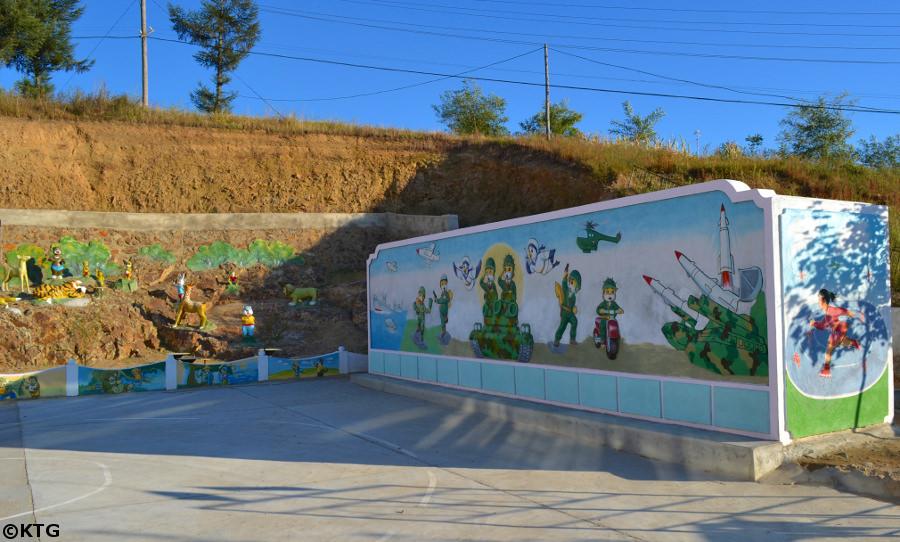 Escuela de párvulos en Rajin ciudad en Rason, Corea del Norte (RPDC). Foto de KTG
