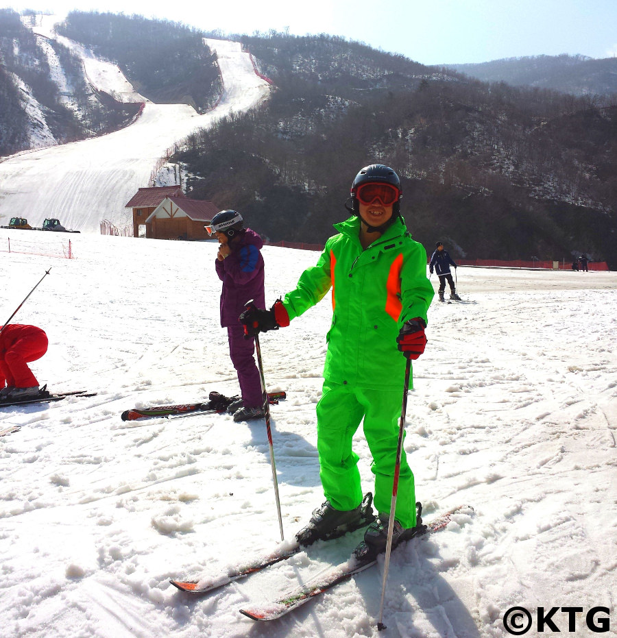 North Korean guide at the Masikryong ski resort in the DPRK. Ski trip arranged by KTG Tours