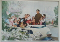 North Korea propaganda image of Leaders