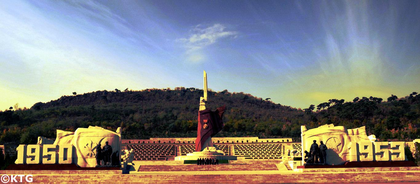 Memorial de la Guerra de Corea en Pyongyang, Corea del Norte (RPDC). Foto tomada por KTG Tours