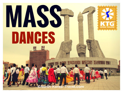 Mass Dances in North Korea on National Day