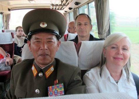 KTG travellers at the DMZ in North Korea