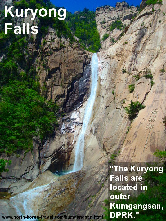 Kuryong waterfalls in Mount Kumgang, North Korea. Trip arranged by KTG tours