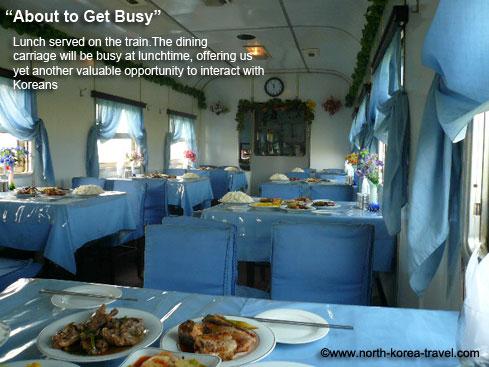 Lunch on a North Korean train