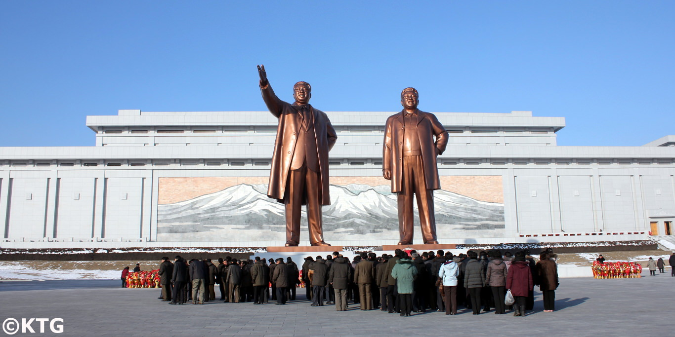 Mansudae Grand Monuments in Pyongyang back in 2012, capital city of the DPRK i.e. North Korea. Trip arranged by KTG Tours
