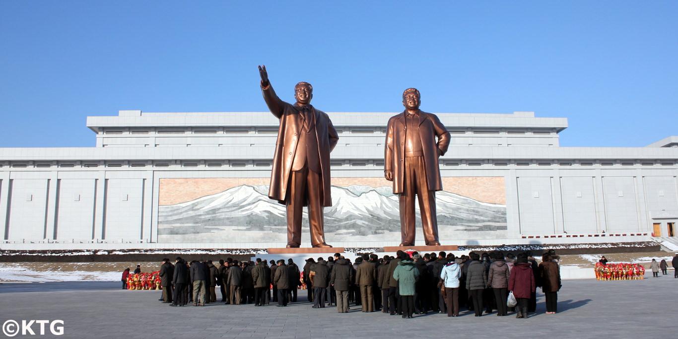 Mansudae Groß Monument von Kim Il Sung und Kim Jong Il