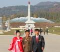 Pareja de recién casados en Corea del Norte