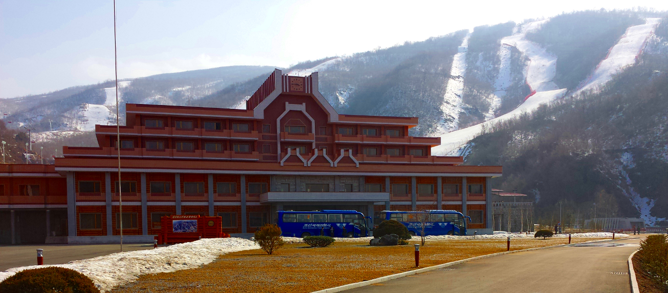 Masikryong ski resort in North Korea, DPRK, with KTG tours
