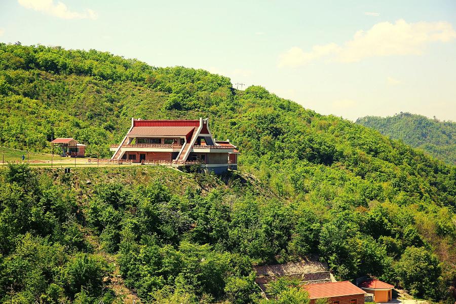 Masik ski resort in North Korea, DPRK, in the summer time. Trip arranged by KTG Tours