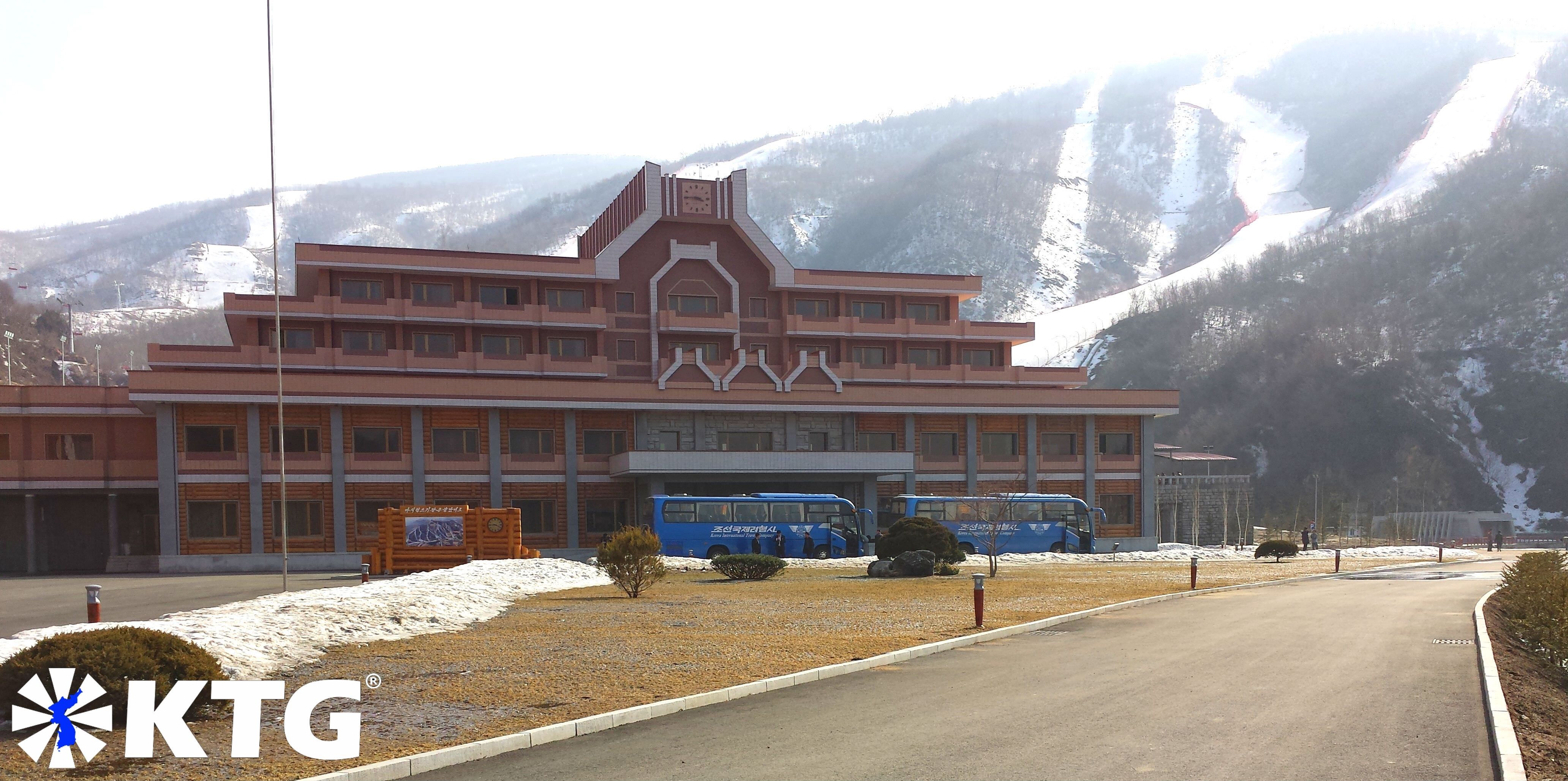 Masik ski resort in North Korea, DPRK, in March. Trip arranged by KTG Tours