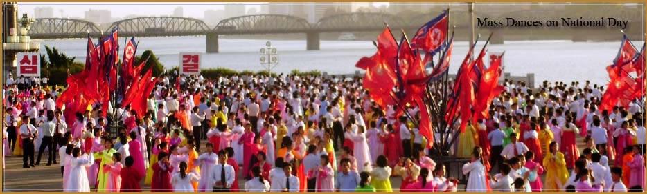 masové tance v Severní Koreji