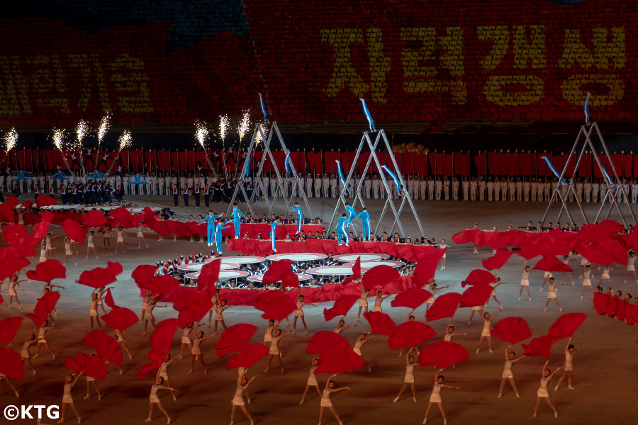 Mass Games in Pyongyang the capital city of North Korea (DPRK) with KTG Tours