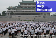 Mass Rally rehearsal in Pyongyang, capital North Korea