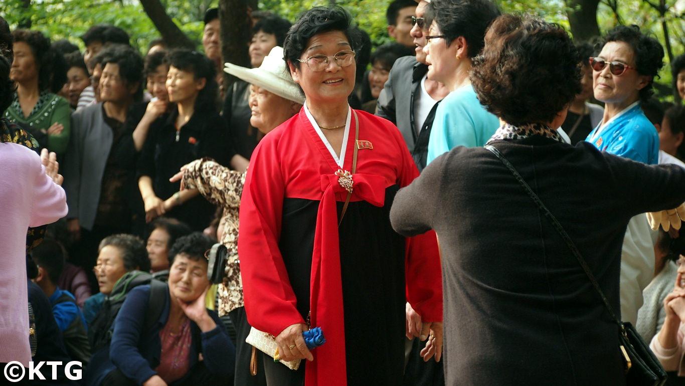 May Day celebrations on Moran Hill, Pyongyang, North Korea