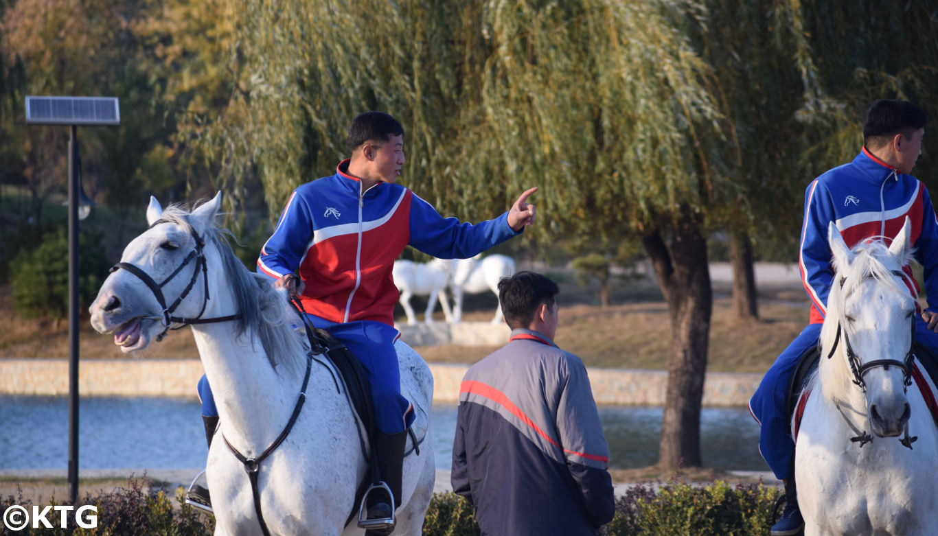 Mirim Equitation club in Pyongyang, North Korea. Go horse riding in the DPRK with KTG!