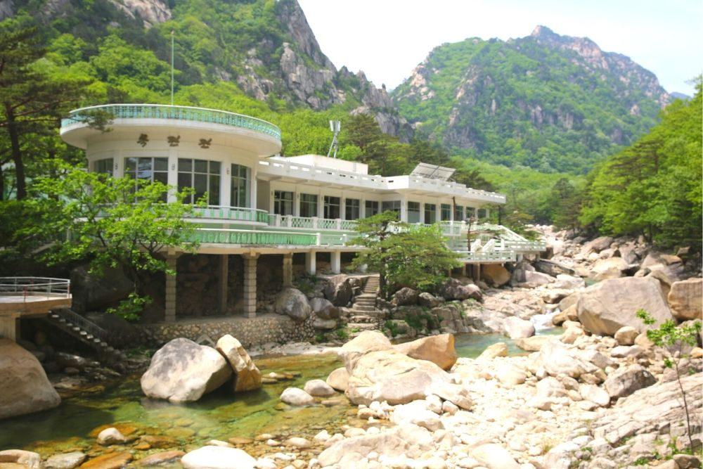 Mokran restaurant in outer Kumgangsan. Mount Kumgang is a natural park in North Korea, DPRK, visit this beautiful place with KTG Tours