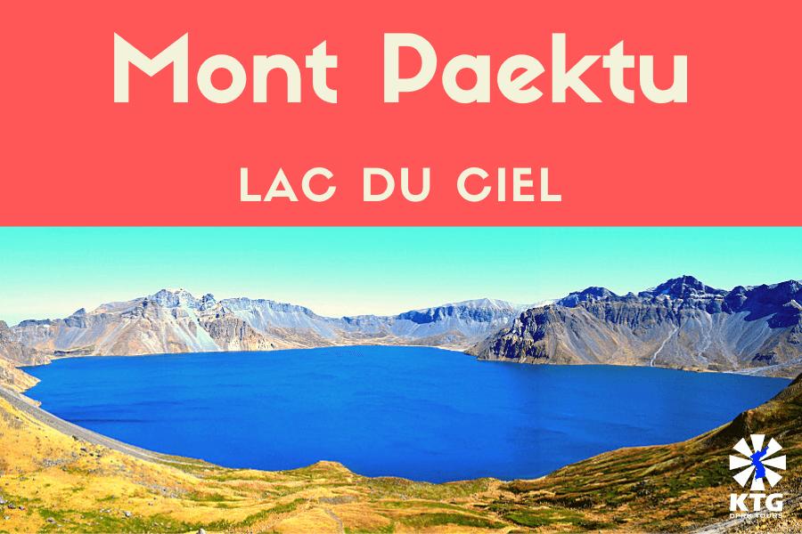 Le mont Paekdu en Corée du Nord (RPDC) est une montagne sacrée pour les Coréens